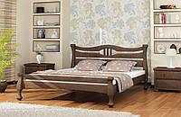 Кровать деревянная Даллас 140х200 Elite-Grand сосна орех темный
