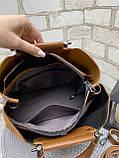Сумочка комбінована нат.замша/кожзам якість люкс арт.0237-1, фото 5