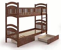 Кровать деревянная Жасмин с ящиками 90х200 Elite-Grand орех темный