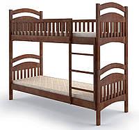 Кровать деревянная Жасмин без ящиков 90х200 Elite-Grand орех темный