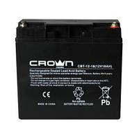 Сухий герметичний свинцево - кислотний акумулятор CROWN CBT-12-18