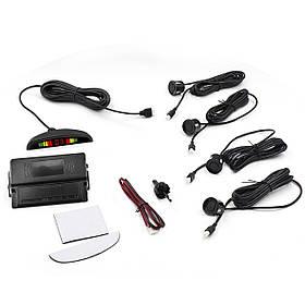 Парктроник автомобильный ParkCity N887 Black 4 датчика + LED дисплей датчик парковки  КОД: 3499-10105