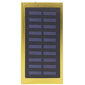 Внешний аккумулятор Power bank Solar Water Cube 8000 mAh портативная солнечная батарея Gold  КОД: 258-10391