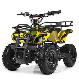 Дитячий квадроцикл на акумуляторі (подрастковый) Profi (мотор 800W, 3 акум) HB-EATV800N-13(MP3) V3 Жовтий