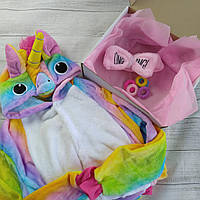 Пижама кигуруми Радужный Единорог + подарочный набор