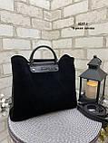 Сумочка комбинированная нат.замша/кожзам качество люкс арт.0237-1, фото 5
