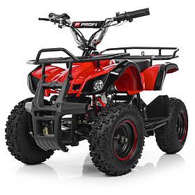Дитячий квадроцикл на акумуляторі (подрастковый) Profi (мотор 800W, 3 акум) HB-EATV800N-3(MP3) V3 Червоний