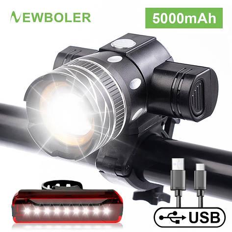 Велосипедный светодиодный фонарь NEWBOLER 5000 мАч LED XML-T6, фото 2
