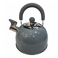 Чайник из нержавеющей стали со свистком 2 л Benson BN-718 (серый)