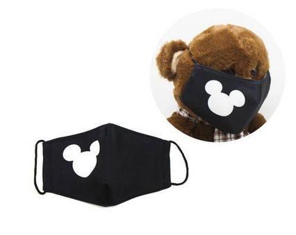 "Многоразовая 4-х слойная защитная маска ""Микки Маус"" размер 3, 7-14 лет mask2NEW"