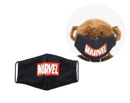 """Многоразовая 4-х слойная защитная маска """"Марвел"""" размер 3, 7-14 лет mask2NEW"""