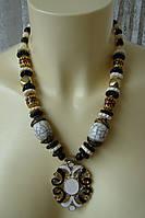 Ожерелье женское колье ручная работа бижутерия 4183, фото 1