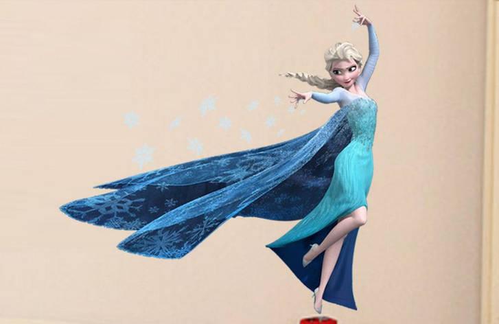 Дизайнерская наклейка Королева Эльза, фото 2