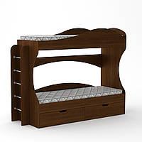 Кровать двухъярусная Бриз орех экко
