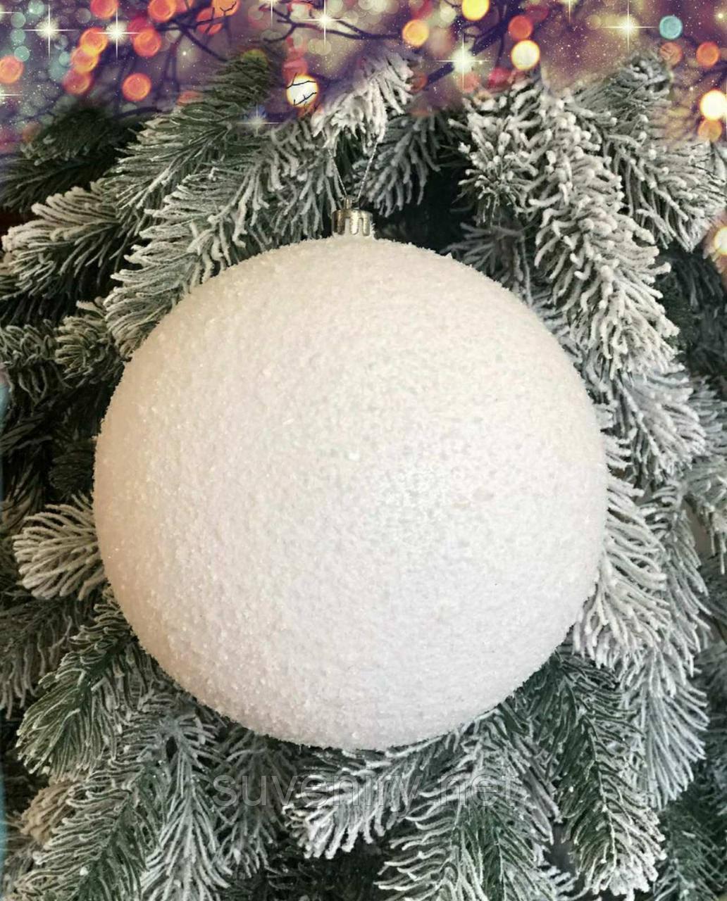 Красиві новорічні кулі на ялинку 8см гальваніка