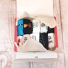 Набор носков подарочный девушки 10 пар любимой веселые с принтами оригинальный подарок девушке на 8 марта, фото 3