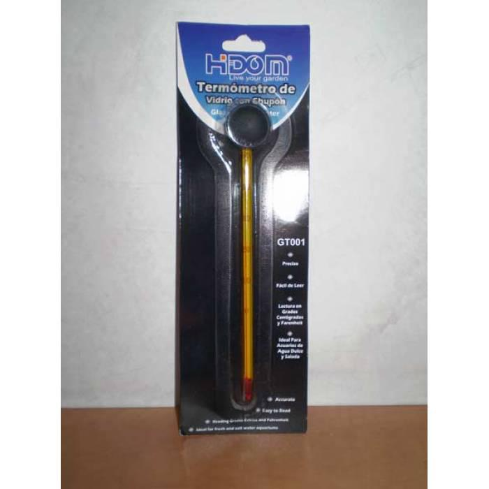 Длинный стеклянный термометр для аквариума HiDom CW-2708
