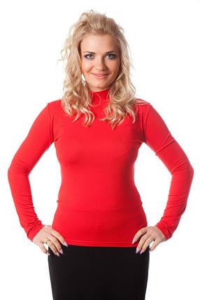 Водолазка  женская 055 красная, фото 2