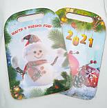 Деревянные разделочные досточки Новогодние 29,5*21 см, фото 2