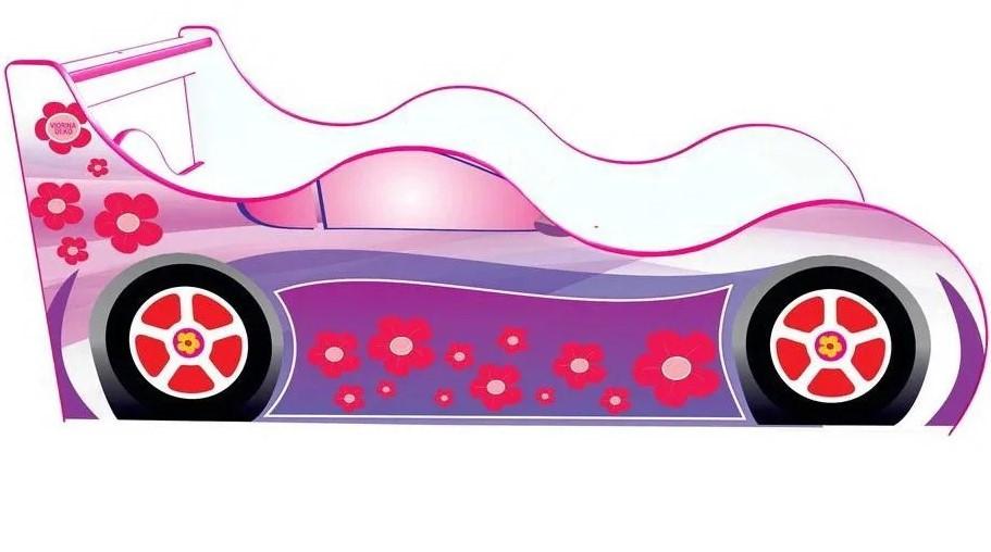 Детская кровать машина Драйв Цветы Д-010 ТМ Viorina-Deko