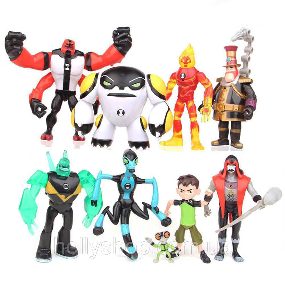 Игровой набор фигурок героев Ben 10 10-14 см Бен 10 Бентен + Свет