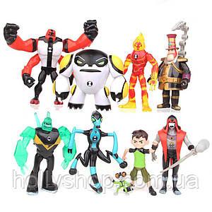 Ігровий набір фігурок героїв Ben 10 10-14 см Бен 10 Бентен + Світло