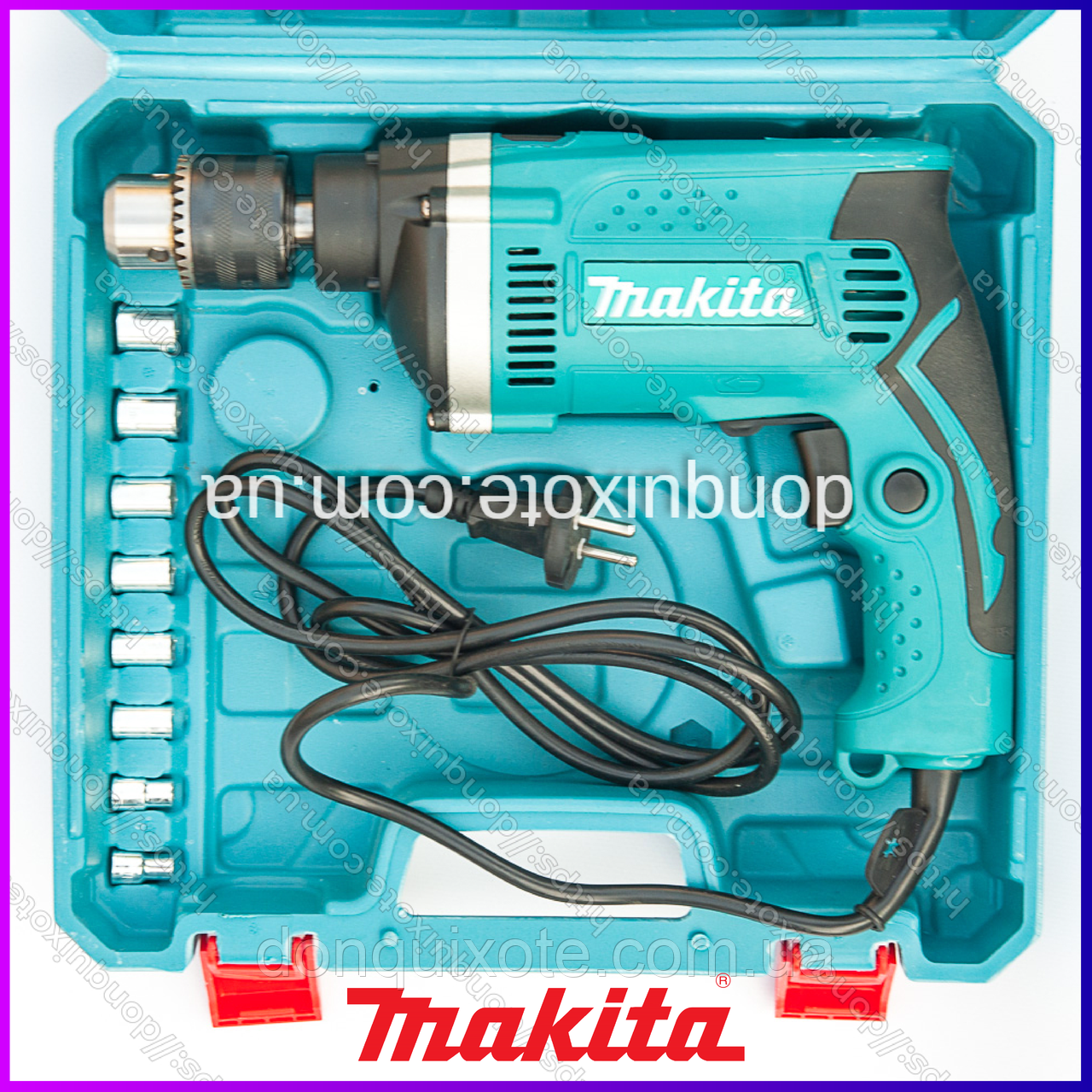 Ударная дрель Makita HP1630 (710 Вт, 0-3200 об./мин.) Дрель Макита