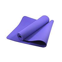 Коврик для фитнеса и йоги TPE Dobetters DBT-YG6 1830*610*60 мм Purple КОД: 4742-14079