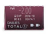 Контактные линзы Dailies Total 1 30 шт, фото 3