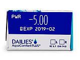 Контактные линзы Dailies AquaComfort Plus 90 шт, фото 4