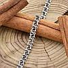 Серебряный браслет с чернением Арабский Бисмарк длина 22 см ширина 5 мм вес серебра 8.7 г, фото 4