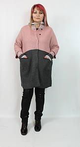 Турецкий женский вязаный кардиган больших размеров 54-62