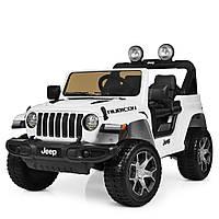 Детский электромобиль Jeep (4 мотора по 35W, MP3, USB, FM) Джип Bambi M 4176EBLR-1 Белый