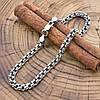 Серебряный браслет с чернением Турецкий Бисмарк длина 19 см ширина 4 мм вес серебра 7.8 г, фото 2
