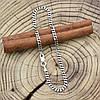 Серебряный браслет с чернением Панцирный скруглённый длина 17 см ширина 3 мм вес серебра 2.2 г, фото 3