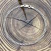 Серебряный браслет с чернением Панцирный скруглённый длина 17 см ширина 3 мм вес серебра 2.2 г, фото 4