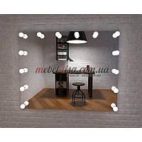 Гримерное зеркало с лампами Лотос (Лампы: Нейтральный / дневной)