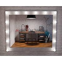 Гримерное зеркало с лампами Слим (Лампы: Нейтральный / дневной)