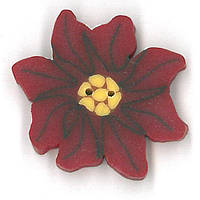 Пуговицы Just Another Button Company small poinsettia 2284.S