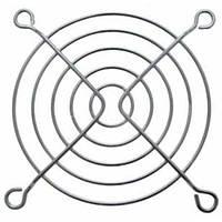 Решетка для вентилятора 80 x 80 mm, металлическая, никелированная