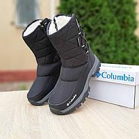Женские зимние ботинки-дутики Columbia черные
