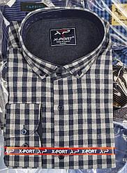 Рубашка мужская кашемировая «X-Port» в мелкую клетку (с L по 3XL)