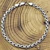 Серебряный браслет с чернением Венеция длина 21 см ширина 5 мм вес серебра 8.9 г, фото 2