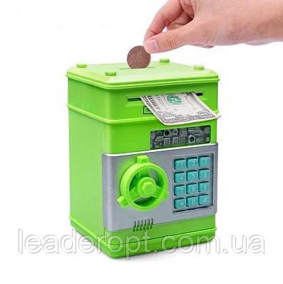 ОПТ Копилка детский сейф с кодовым замком зеленый