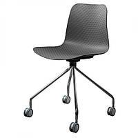 Velvet Wheels стул серый на колёсиках (110124)