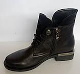 Ботинки женские зимние кожаные от производителя модель ДС525-5, фото 3
