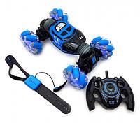 Машинка перевёртыш вездеход SkidDing UD 2196/3675 игрушка на радиоуправлении Синяя
