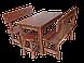 Стол из натурального дерева Кантри круглый, фото 2