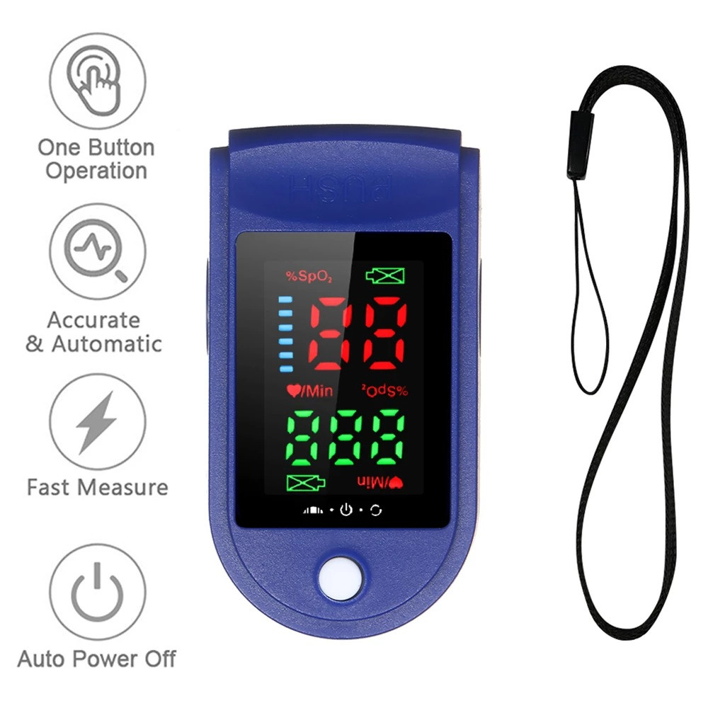 ✅ Пульсоксиметр Fingertip Pulse Oximeter LK87