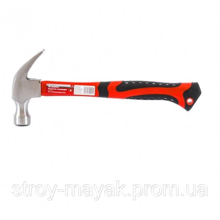 Молоток-гвоздодер 450 г, боек 27 мм, фиберглассовая прорезиненная ручка, MTX